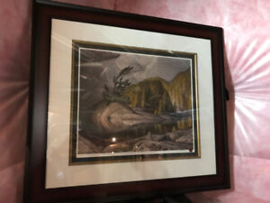Scenic painting with Dark Brown Frame