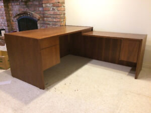 Solid Cherry Wood Executive Desk