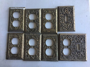 Vintage metal electrical switch plates