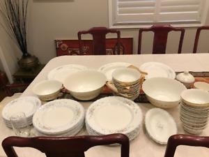 Dinner set Victorian style