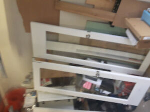 Full glass French doors. Door size 30 x 80. Good condition