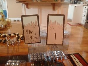 christmas Wedding table numbers and holders