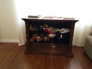 ANTIQUE DISPLAY SHELVED TABLE