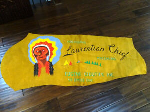"""advertising QUEBEC 62""""L store sign LAURENTIAN CHIEF MOCCASINS"""