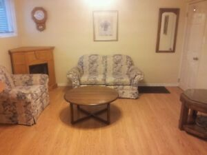 Bright Clean Furnished Basement Suite with Jacuzzi Tub