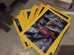 National Geo Magazines for sale
