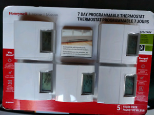 Honeywell 5 pack thermostats - new in box