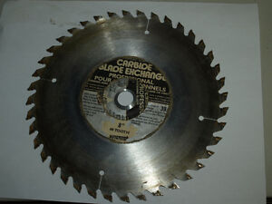 ADJUSTABLE 8 INCH - 40 TOOTH CARBINE TABLE SAW BLADE London Ontario image 1