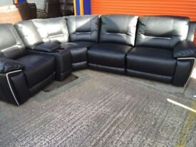 Harvey's HEDGEMOOR reclining both ends with drink s compartment ex display