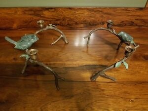 Antique Bronze candle holders.