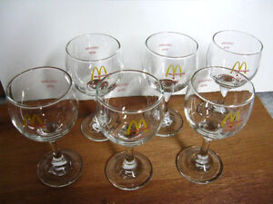 McDonalds Wine glasses and lapel pin