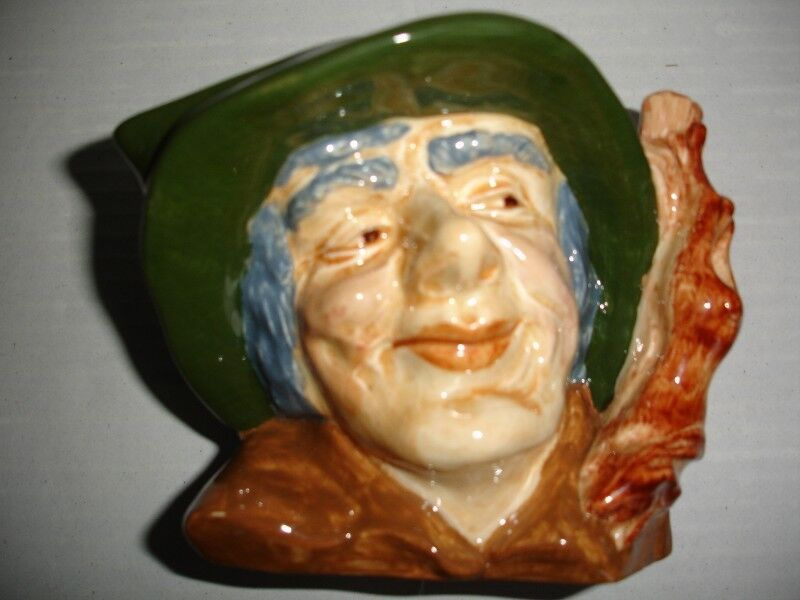 """Oldcourt Ware Handpainted Pottery Character Jug """"The Poacher """""""