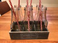Cocktail glasses - milk bottle style