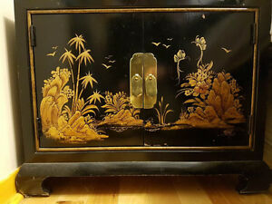 Meubles laqués noirs chinois/Black Lacquer Chinese furniture West Island Greater Montréal image 1