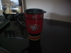 San Fransisco 49ers glass travel mug