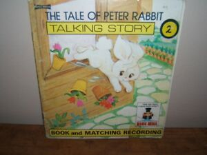 VINTAGE (1976) PETER RABBIT RECORD AND BOOK