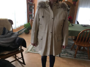 Leather Coat worn once