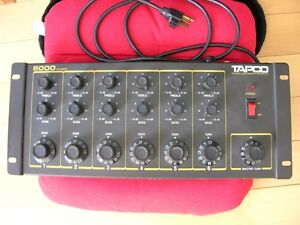 Vintage  Tapco 6000 CF 6 channel  Audio Mixer