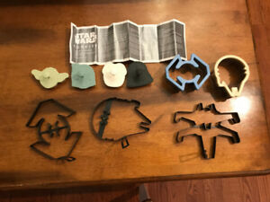 STAR WARS 6 COOKIE CUTTERS AND 3 PANCAKE SHAPES...BAG OF FUN