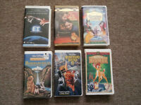 6 ASSORTED VHS