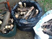 Cut logs fire wood 3x bags