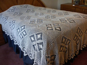 Crocheted Bedspread/Tablecloth