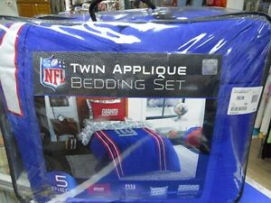 NFL 5pc Bedding Set Giants- Twin, New