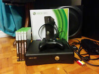 Xbox 360 Slim 4GB with 4 Games