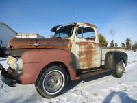 1951 OR 52 FORD F-1 FOR SALE FLAT HEAD V-8 3 SPEED STANDARD