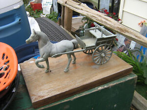 brass horse and cart London Ontario image 1