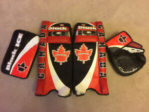 Street/Road/Ball Hockey Goalie Pads Catcher/Blocker Ages 8 to 12