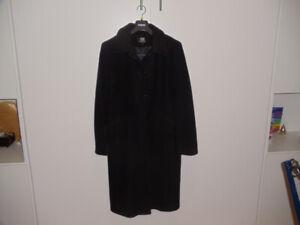 565d7f12d771 Manteau noir long pour femme - Laine Nylon Cachemire - 10 ans