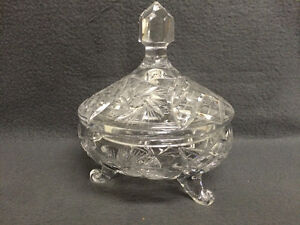 Collectible Antique Pinwheel Crystal Covered Candy Dish London Ontario image 1