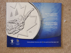 2010 Vancouver Olympics Circulated Coin Set With Folder