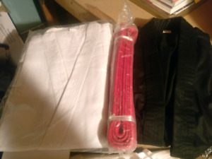 Karate gi (with belts)