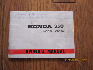1972 Honda CB 350 Owners Manual Sarnia Sarnia Area image 1