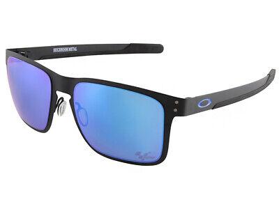 68fe9174bb9fc Oakley Holbrook Metal MotoGP Sunglasses OO4123-1055 Matte Black Prizm  Sapphire