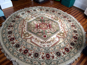 Beautiful, Large Jute and Polyester rug. Made in Turkey