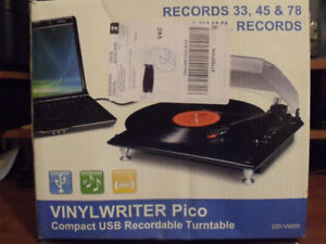 Vinylwriter Pico. Compact Recordable Turntable