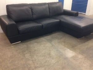 Leather SECTIONAL sofa  -  Delivery
