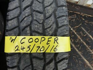 2 M+S TIRE COOPER 245/70/R16 95% TREAD