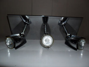 Small Chrome Ceiling Light with 3 Directional Lights