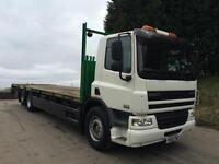 2010 60 DAF CF 75.310 euro5 6x2 32ft cheese wedge beavertail winch 134kms