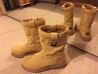 Cat Steel toe Boots size 8