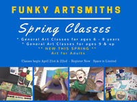 Art Classes - Six Week Spring Session
