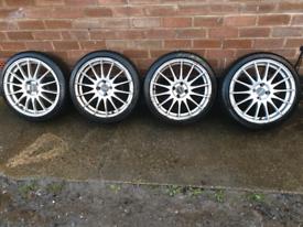 17 Inch 4x100 Fox Racing Alloy Wheels