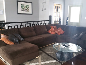 Large Brown Sectional Sofa