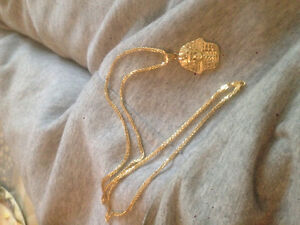 Real gold chain and pendent