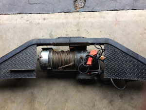 10,000 lb Ramsey Electric Winch c/w HD Bumper