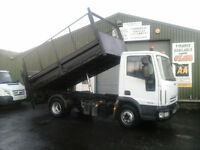 Iveco Eurocargo Caged Tipper with tail lift ex council 66k miles